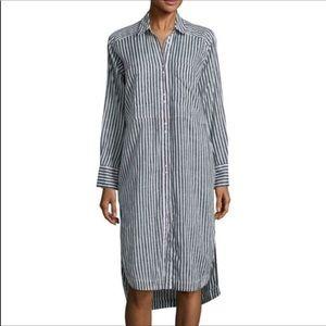 Free People Long Striped Shirtdress Sz M